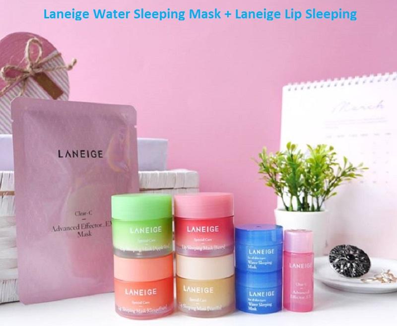 Laneige Water Sleeping Mask + Laneige Lip Sleeping Mask